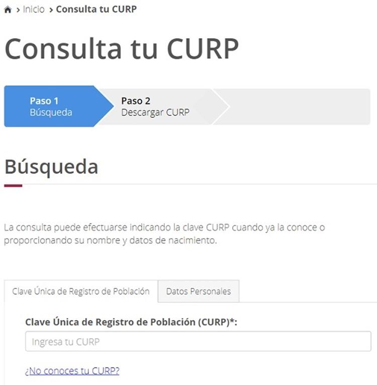 ¿Cómo consultar la CURP gratis en línea?