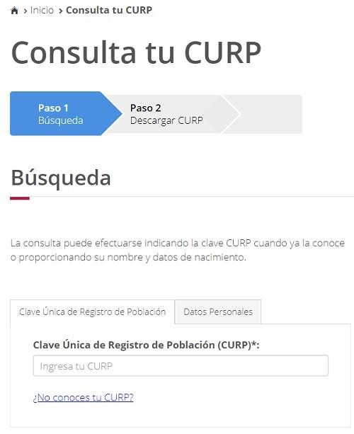 Buscar CURP