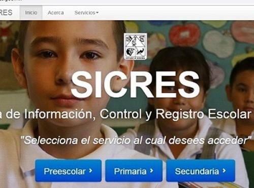 Sistema de Información, Control y Registro Escolar de Sonora (SICRES)
