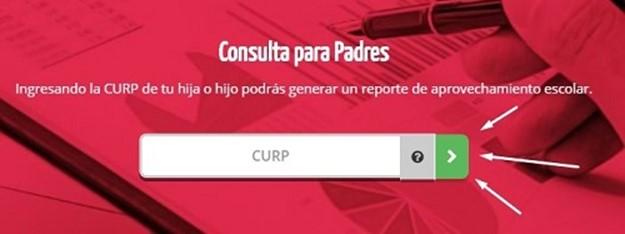 SICRES Calificaciones para padres mediante la CURP