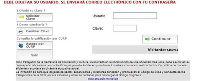 Consulta de calificaciones para alumnos de secundaria