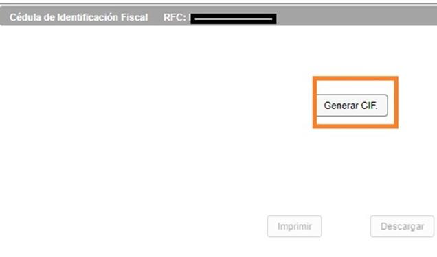 Cédula de Identificación Oficial con RFC con la homoclave
