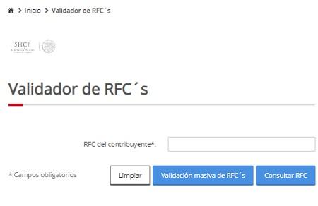 Validador de RFC