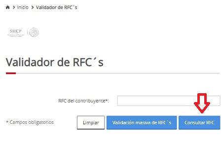 Verificar RFC