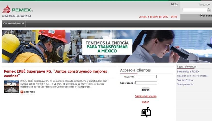 Portal Comercial Pemex Transformación Industrial