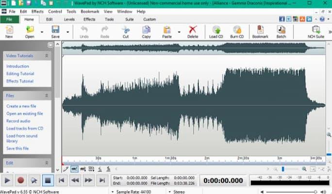 Programa para grabar canciones como estudio