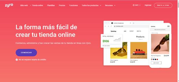 Zyro tienda virtual
